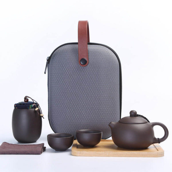 Travel Tea Set With Case Boccaro Ware (2 Teacups)