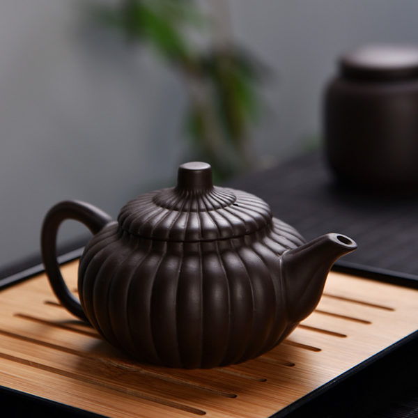 Business Gongfu Travel Tea Set Unique Pumpkin Pot (4 Cups)
