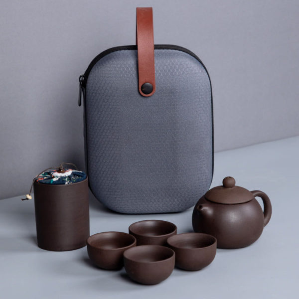 Travel Tea Set With Case Fantastic Boccaro Ware (4 Teacups)